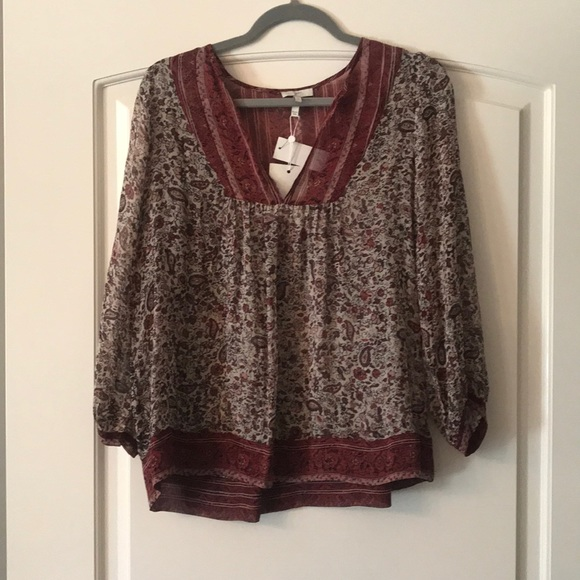 """Joie Tops - JOIE Emryn Blouse in """"English Rose"""""""